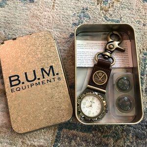 B.U.M. Equipment watch and ball marker set